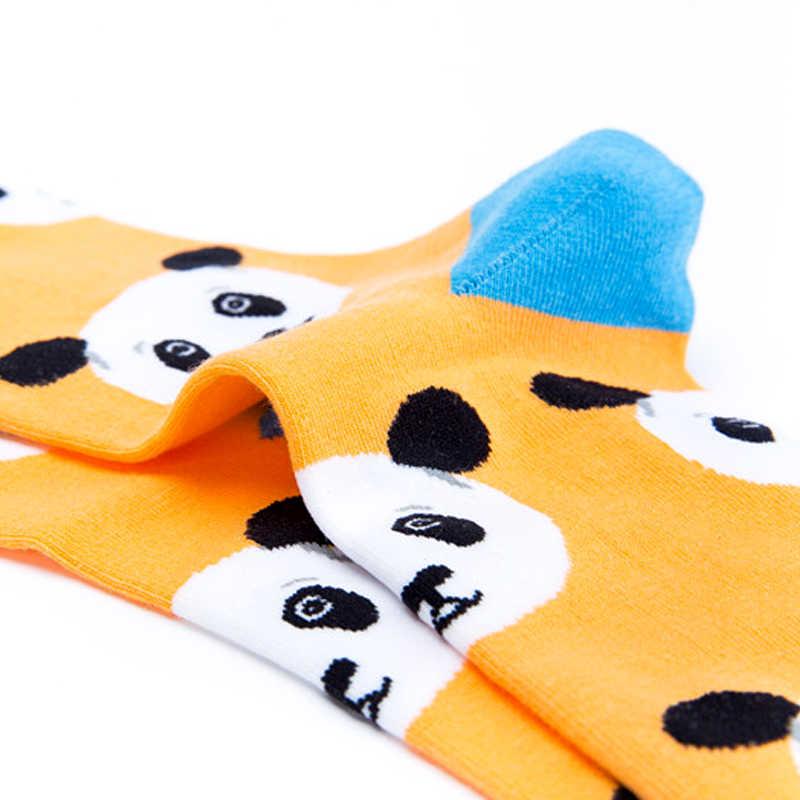 승무원 멋진 고양이 팬더 대나무 동물 프리미엄 남성 여성 미친 양말 행복한 짧은 남성 코튼 팝 미친 여성 겨울 따뜻한 양말