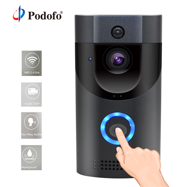Podofo B30 Doorbell Wireless WiFi Intercom Smart Video Door Bell Camera Home Security Monitor Night Vision Visual Record Remote