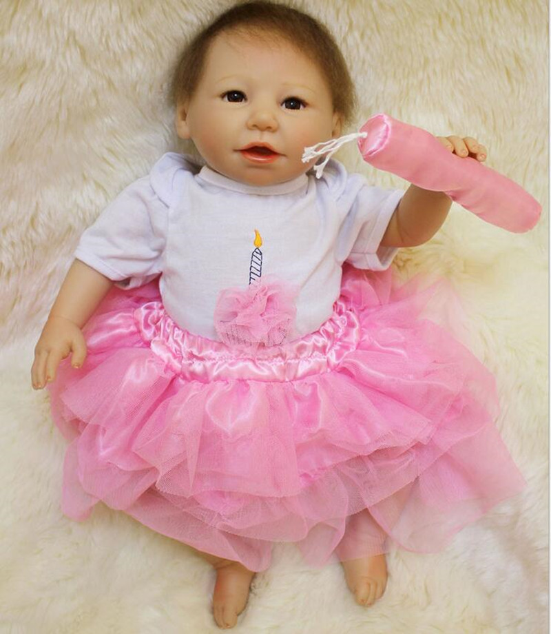 51cm Bebe Doll Reborn 20 Inch Lifelike Soft Silicone Reborn Toys Fashion Gift For Girls Newborn Babies Toys Juguetes Brinquedos 52cm reborn babies blue eyes magnetic mouth soft touch silicone doll reborn boy girls toys bear plush doll bebe gift reborn