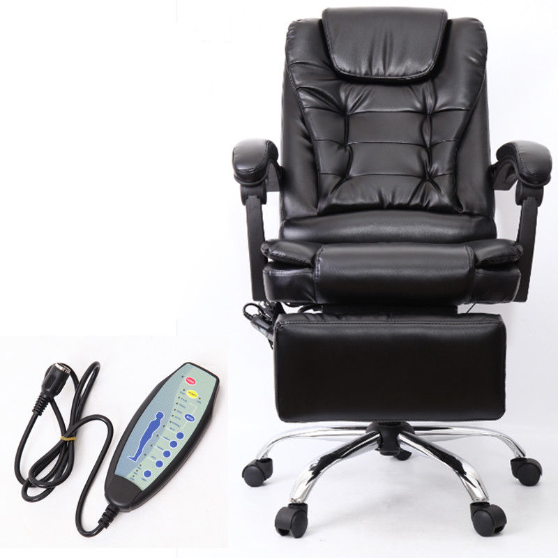 (Ship from EU) High Black Vibrating Massage Office Computer Chair Luxury Leather Swivel Reclining 3 5mm line 32mm 1 1 4 inside trigger snap hook black gun swivel clasp lobster claws swivel hooks hardware free ship