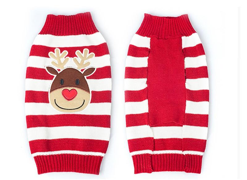 Pet Dog Knit Christmas Reindeer Holiday Cardigan