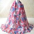 2015 женщин мода, Вискоза шарф, Розы печать, Цветочные хиджаб, Мусульманин хиджаб, Шали и шарфы, Мусульманин глушитель