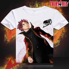 Anime Unisex Tops Tee Fairy Tail digital printed hot anime Fairy Tail t shirt Fairy Tail t-shirt