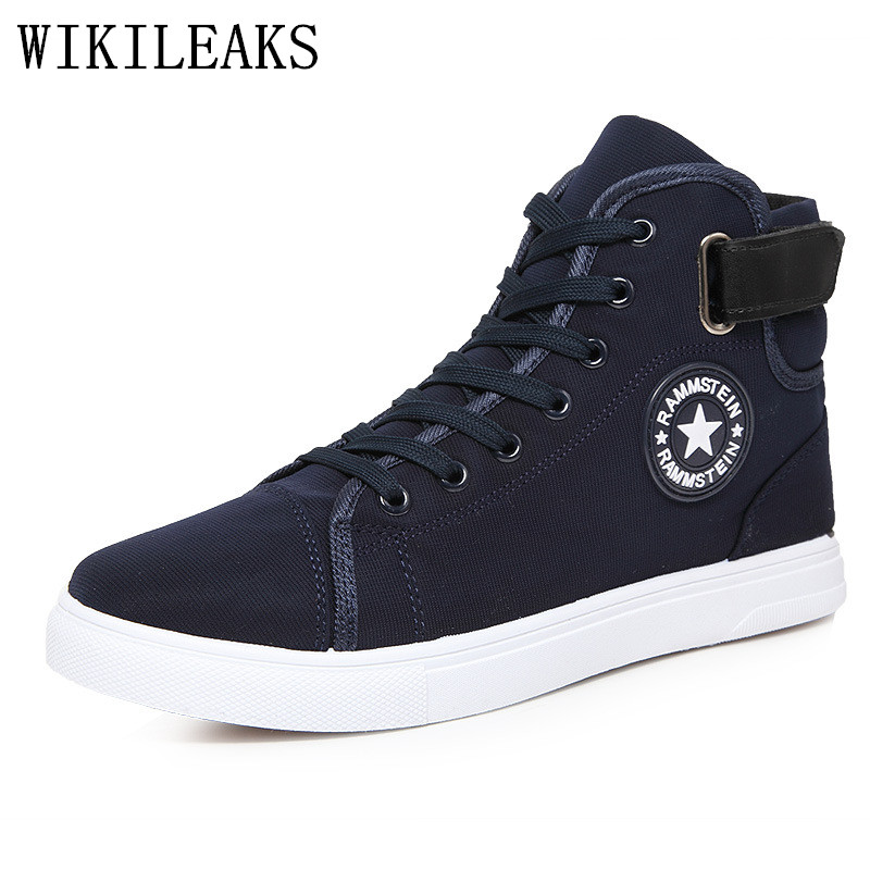 Hot Sell Spring new Korean High-top men shoes casual fashion breathable canvas shoes man Lace-Up solid color flat with shoes men new spring summer men casual shoes breathable black high top lace up canvas shoes espadrilles 2018 fashion white men shoes flat