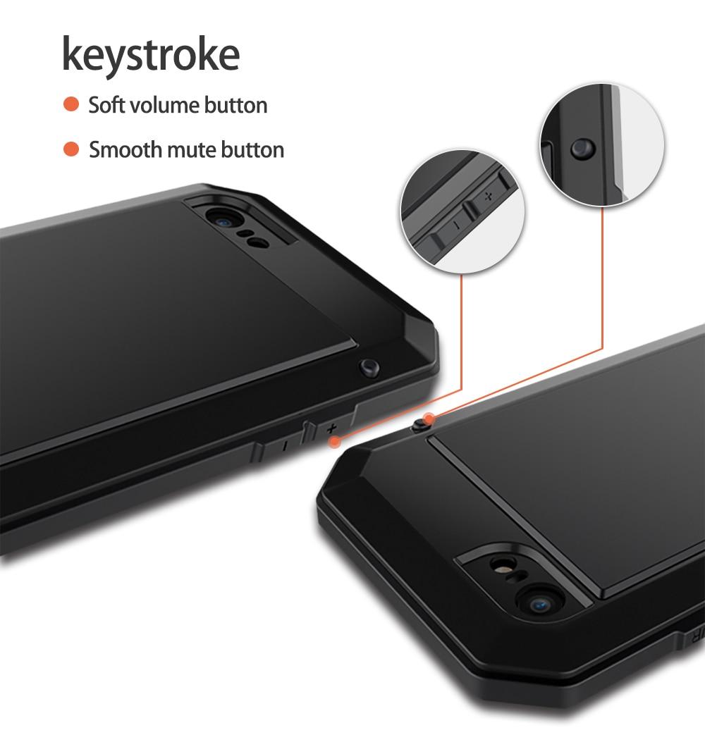 HTB1fFj4eStYBeNjSspkq6zU8VXaX Heavy Duty Protection Doom armor Metal Aluminum phone Case for iPhone 11 Pro Max XR XS MAX 6 6S 7 8 Plus X 5S 5 Shockproof Cover
