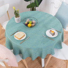 Home Nordic pastoral cotton linen tablecloth, restaurant round big tablecloth ins wind