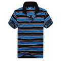 Wholesale-2016 Spring And Summer Casual Stripe Mens Polo Short-sleeve Polo Shirt 4 Shirt