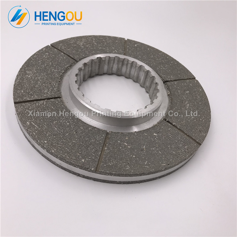 1 piece Heidelberg 102 parts Friction plate, grey color brakes 190*75mm thickness 14mm 1 piece motor brakes for heidelberg sm 74 high quality printing parts brakes
