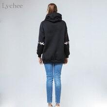 Lychee Harajuku Lolita Style Women Sweatshirt Rabbit Pentacle Print Lace Up Hoodies Casual Loose Long Sleeve Tracksuit