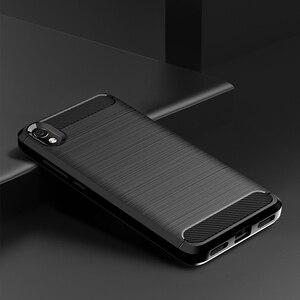 "Image 2 - For Xiaomi Redmi 7A Case Shockproof Brushed Carbon Fiber Soft Bumper Case Cover for Xiaomi Xiomi Redmi 7A 2019 5.45"" Phone Cases"
