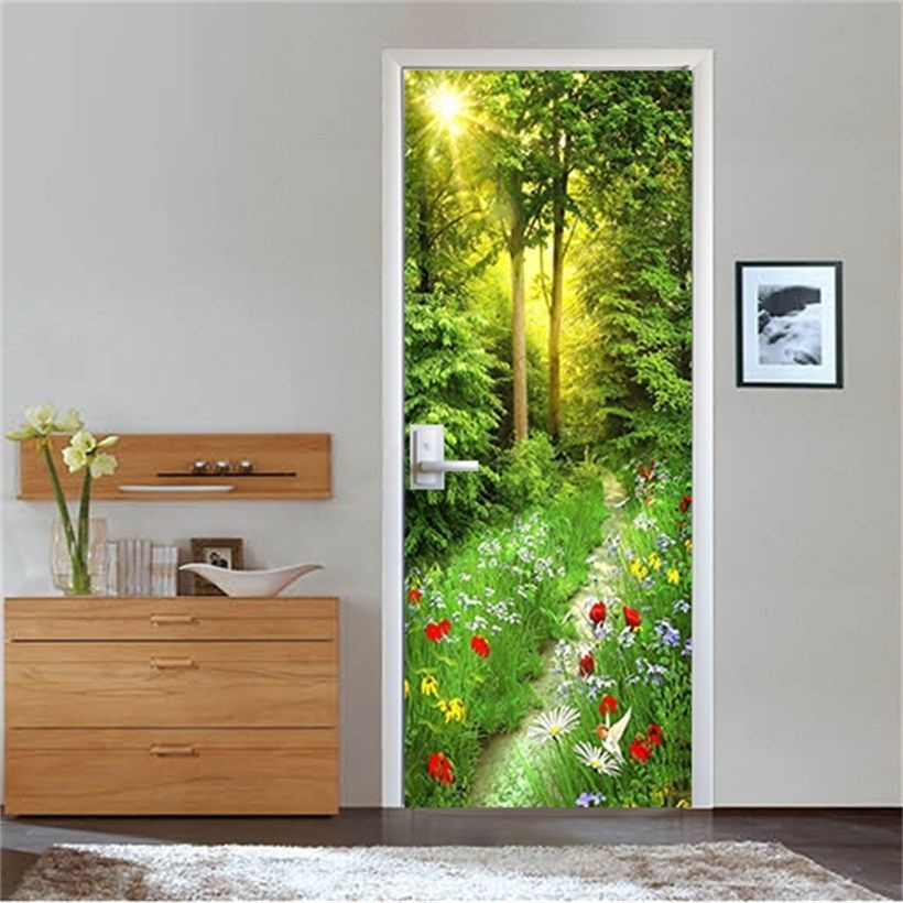 Free Shipping Home Decorators: Free Shipping HOT Trees Flowers Door Wall Stickers DIY