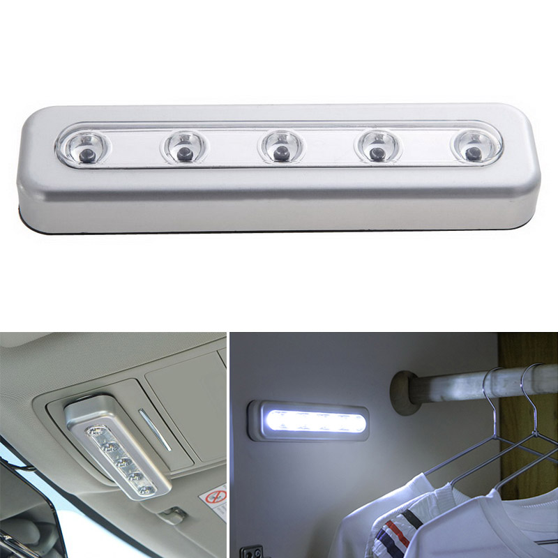 LED Light With Adhesive Sticker Lamp for Cupboard Drawer Clo