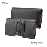 Horizontal Belt Clip Holster Genuine Leather Pouch Cover For Iphone 5s 5c 5 4 4s Samsung