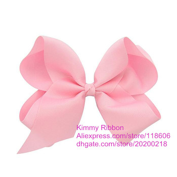 Free Shipping Wholesale 100pcs Light Pink Extra Large 6 Boutique Hair Bow Large Easter Bow