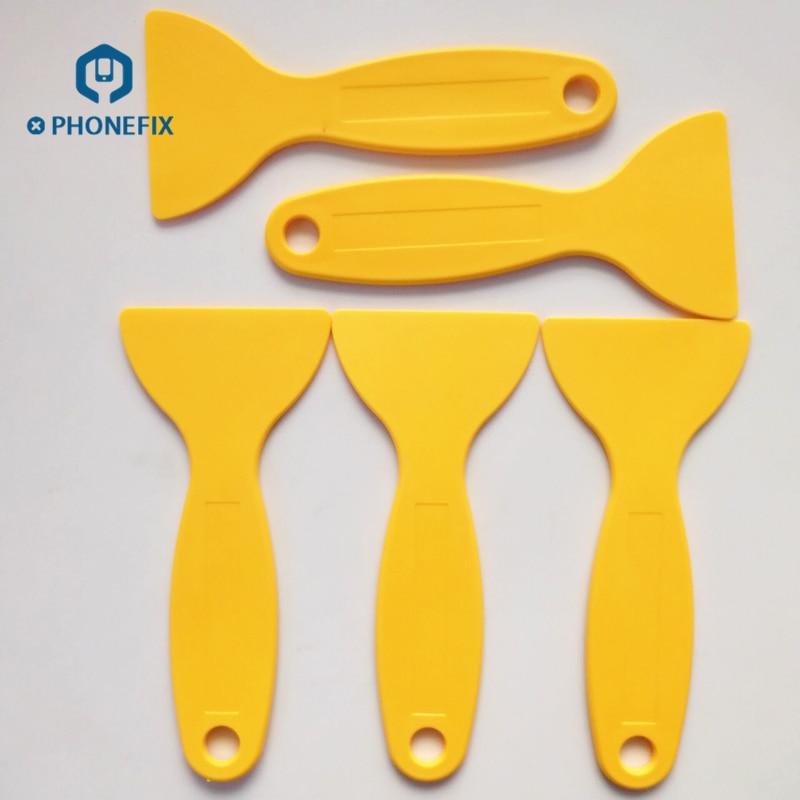 PHONEFIX 5pcs Open Screen Tool For IPhone Repair Opening Tools Plastic Spudger Glue Remove Tool For Cell Phone Screen Repair Kit
