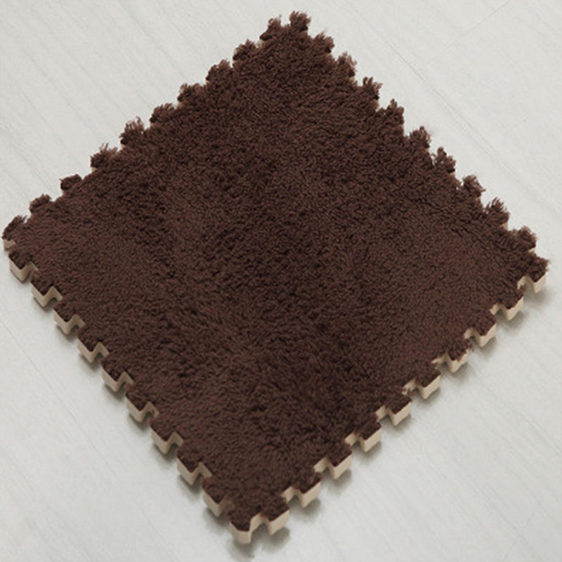Ткань лохматый 30x30 см Коврик-головоломка пена бархатистый коврик EVA пена EVA домашняя пена коврик - Цвет: Coffee