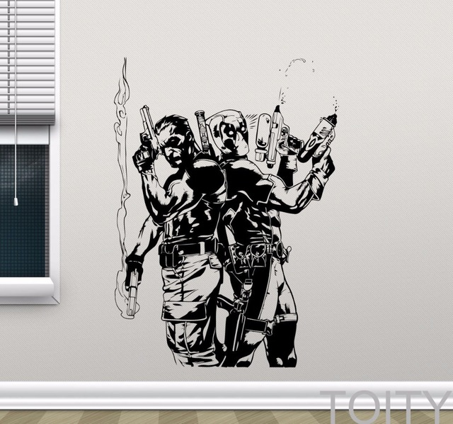 Deadpool Punisher Wall Decal Superheroes Vinyl Sticker Comics - Superhero vinyl wall decals