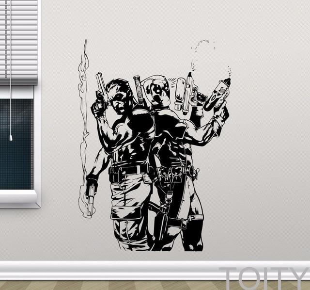 Deadpool Punisher Wall Decal Superheroes Vinyl Sticker Comics - Superhero vinyl wall decals