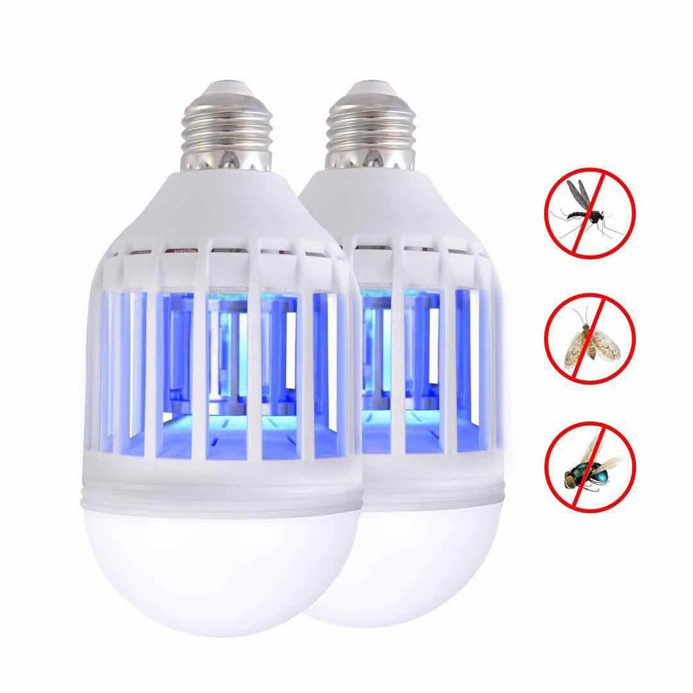 110V 220V E27 LED Mosquito Killer Lamp 15W 2 In 1 LED Ball Nigh Light Anti Repellent Fly Bug Zapper Insect Killer LED UV Bulb