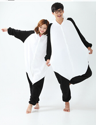 New 2017  Women Men Adult Fleece Kawaii Clothes Anime Animal Cosplay Panda Onesie Sleepwear Jumpsuit  / Panda Pajama