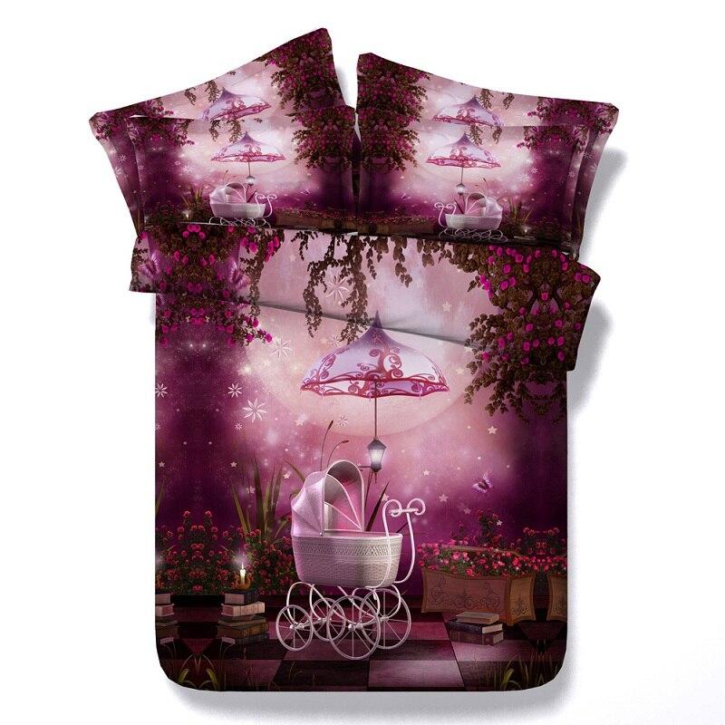 3d Bunga Tidur Set Bunga Selimut Penutup Set Seprai Tempat Tidur