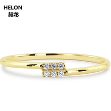 14K Solid Yellow Gold Natural Diamonds Engagement Ring for Women Anniversary Wedding Band Fine Jewelry Classic