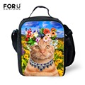 FORUDESIGNS Kawaii Animal Cat Lunch Bag Women Food Thermal Bag Insulated Lunch Bags for Girls Children Lancheira Picnic Bag