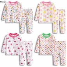 Модные пижамы для маленьких девочек; комплект одежды; хлопковое мягкое детское ночное белье наивысшего качества; цветная Одежда для новорожденных; комплект пижам для сна для новорожденных