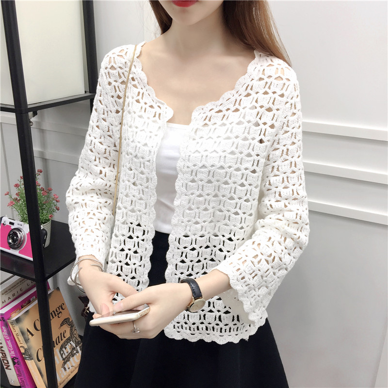 Special Section 2018 Women Spring Summer Fashion Casual Shirts Crochet Lace Solid V-neck Blouse Tops Sexy Hollow Out Flare Sleeve Feminino S6245 Women's Clothing