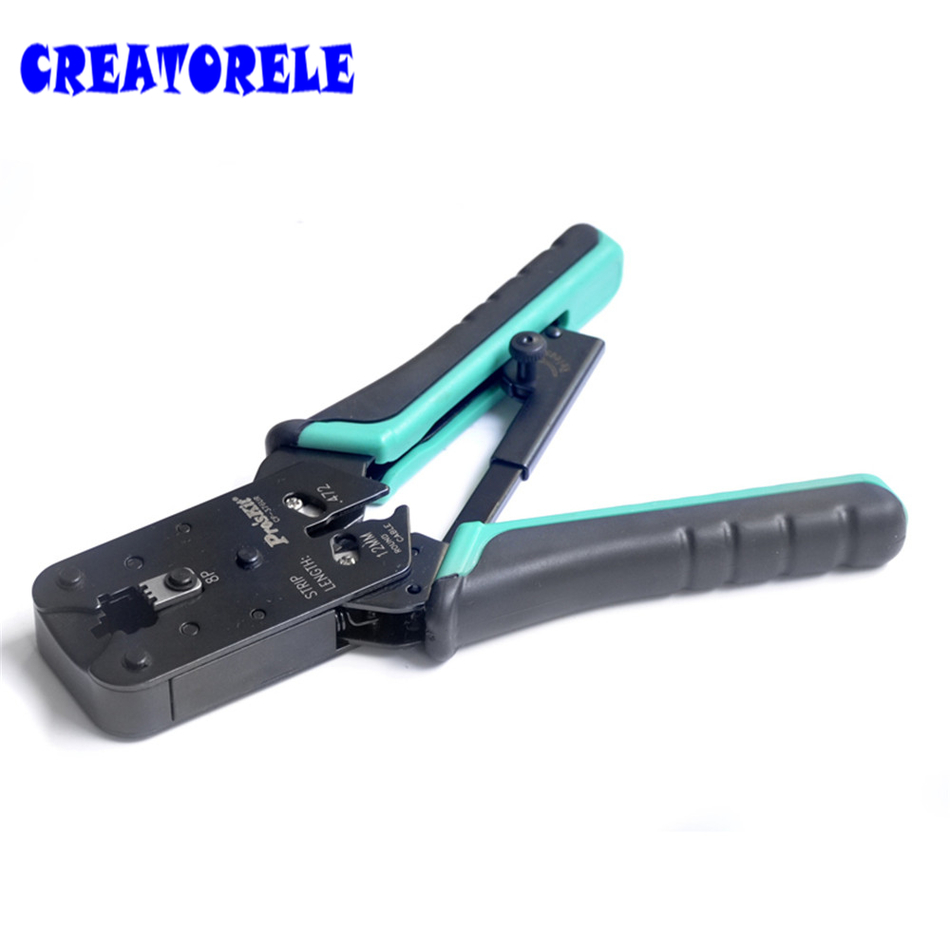 ФОТО CP-376UR Adjustable Ratchet Network Clamp 8P Crimping Network Pliers Crimping Pliers Crimping Tools