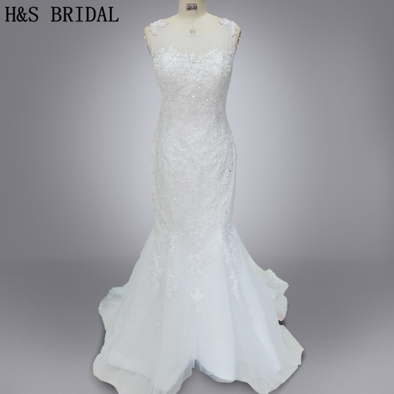 a39cc316d5 Model rzeczywistym Vestido de noiva 2019 suknia ślubna custom made suknia  ślubna syrenka tulle aplikacje koronkowe suknie ślubne