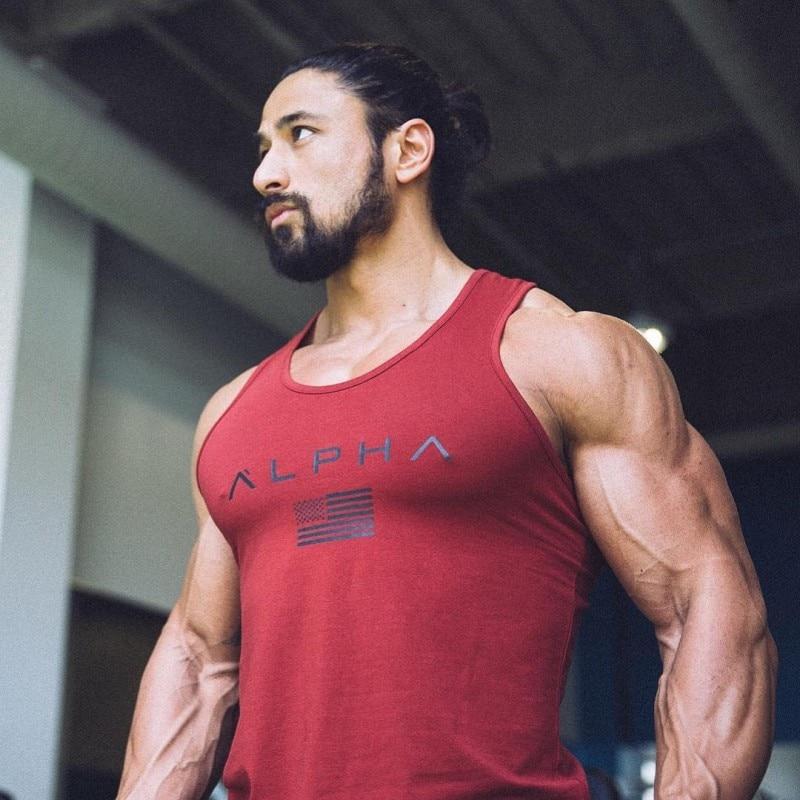 Men Bodybuilding Cotton Tank top 2018 New Gyms Fitness Sleeveless shirt Sling Vest Man Undershirt Crossfit Tops Brand Clothing