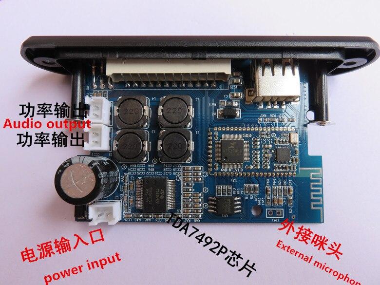 TDA7492P 25 Watt + 25 Watt Bluetooth/MP3 decoder board Bluetooth/USB (U disk)/tf-karte/WAV/APE/AUX audio-eingang