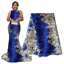 African Lace Fabri Tulle Embroidered Mesh Fabric High Quality Guipure 5 yards for Party Wedding