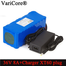 VariCore 36V 8Ah 500w 18650 Rechargeable battery pack XT60 plug modified Bicycles,electric vehicle Balance car+ 42v 2A Charger 36v 10ah 10s3p 18650 rechargeable battery pack 500w modified bicycles electric vehicle 42v li lon batteries 2a battery charger