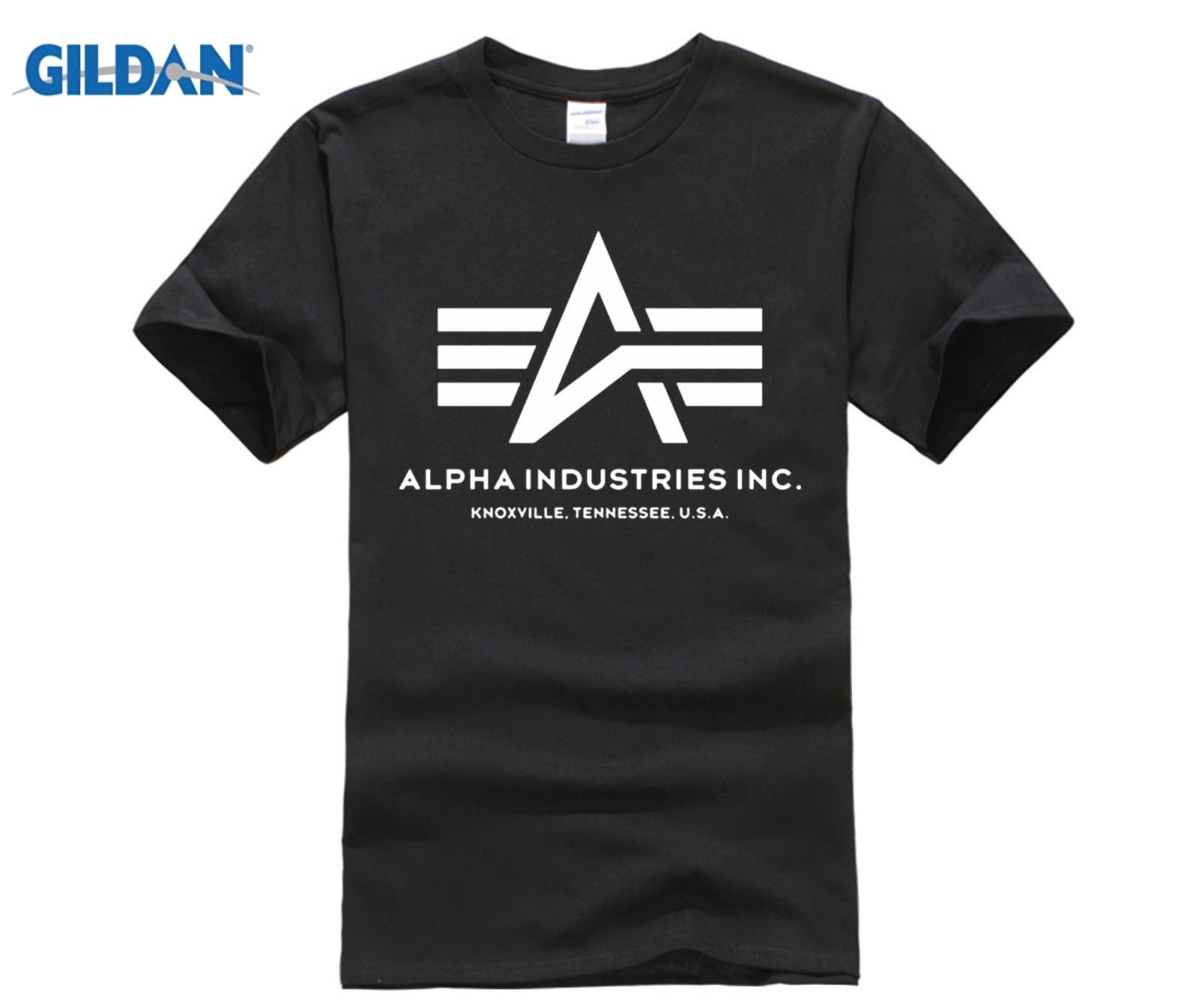 ad4f9af8e T camisa verano Camisetas de moda de Alpha Industries manga corta Camiseta  Tops Tee Camiseta ...
