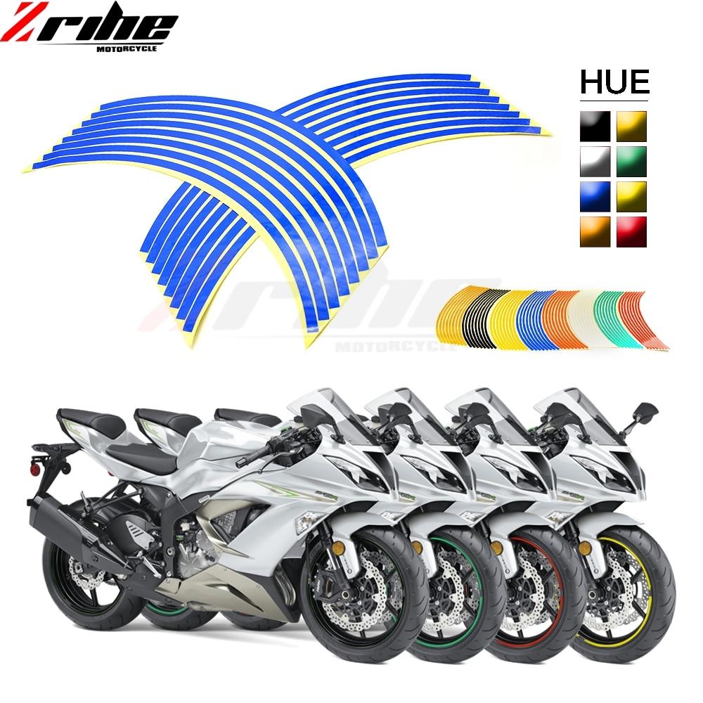 FOR Z900 Z800 Z1000 Strips Car Styling Motorcycle Automobiles Wheel Tire Sticker On Car Rim Tape Car Sticker Parking Accessories
