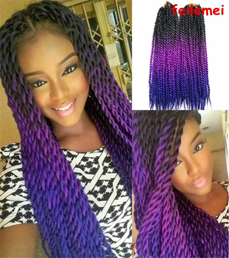Black And Purple Ombre Braiding Hair Impression Hair Style