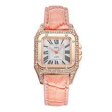 ac620b827c9 Praça de Luxo Mulheres Relógios Senhoras Strass Relógio de Pulso Das  Mulheres de Quartzo Relógio de