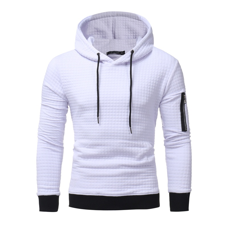 2017 hot sale fashion shpping Men's pure color hooded sets of hoodies Street tide Gentle skin care keep warm high quality full