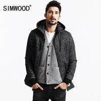 SIMWOOD Merk 2013 Nieuwe Winterjassen Mannen casual jacket fashion Wol en Blends parka warm mens kasjmier overjassen DY103