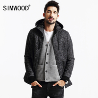 SIMWOOD Brand 2013 New Winter Coats Men Casual Jacket Fashion Wool And Blends Parkas Warm Mens