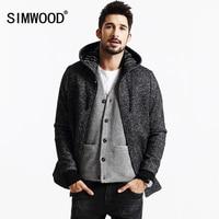 SIMWOOD Brand 2013 New Winter Coats Men Casual Jacket Fashion Wool And Blends Parkas Warm Mens