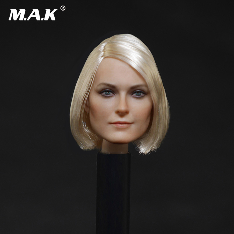 1/6 Female Head Sculpt Short Hair Head Carving Model D-001 For 12 Collectible Action Figure 1 6 female head for 12 action figure doll accessories marvel s the avengers agents of s h i e l d maria hill doll head sculpt