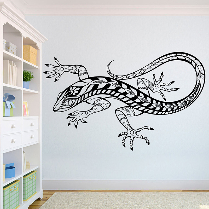 Lizard Beautiful Wolves Wall Decal African Wild Lion Pride Animals Home Interior Design Art Office Murals Home Decoration A3 005 in Wall Stickers from Home Garden