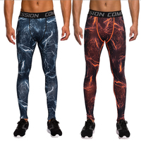 2017 Camouflage Pants Men Fitness Mens Joggers Compression Pants Male Trousers Bodybuilding Tights Leggings