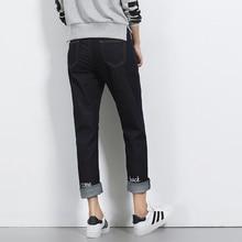 Новая мода Плюс размер джинсы женские брюки Большой ярдов ветер прямые бойфренд джинсы женские брюки bf свободные прямые джинсы женские