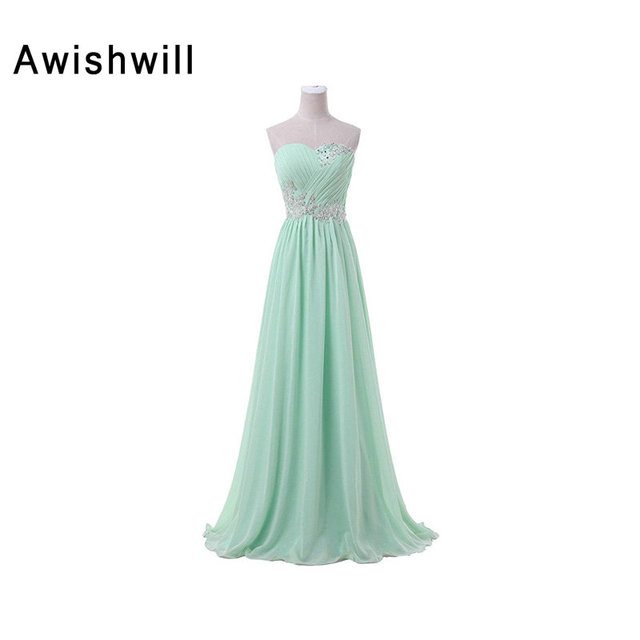 Cheap Mint Green Long Evening Dresses Lace up Back Plus Size ...
