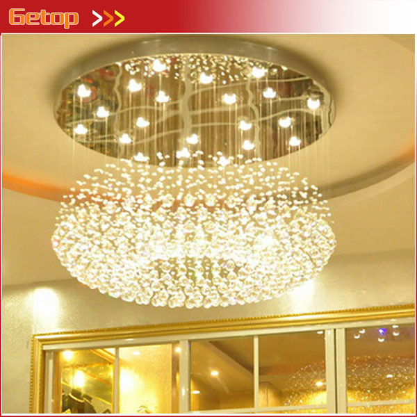 Best Price Modern Crystal Ceiling Light Lamp Round Hanging Lights Hotel Lobby Engineering Lamps In From
