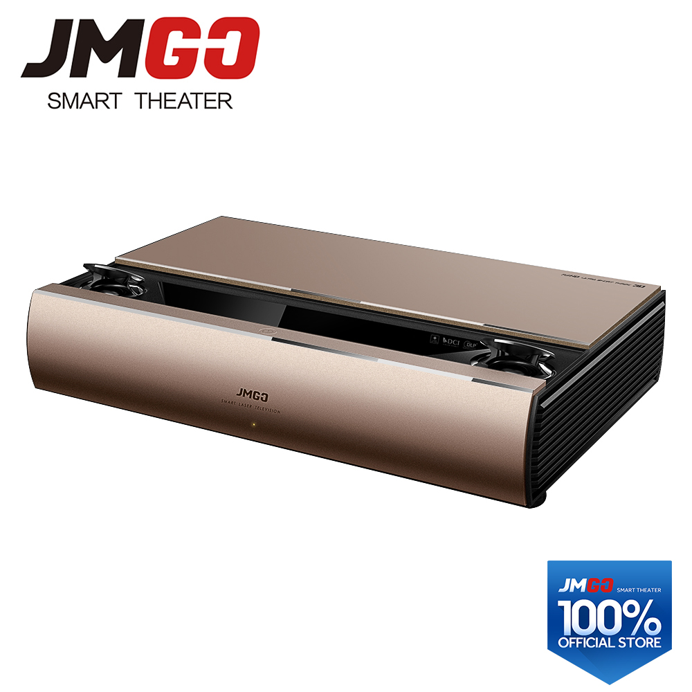 JMGO SA, Projecteur Laser, 1920x1080 Résolution, 2200 ANSI Lumens, Full HD Android Beamer, WIFI Proyector, HDMI Bluetooth Haut-Parleur
